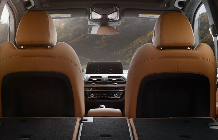 2021 BMW X3 interior view from rear seats