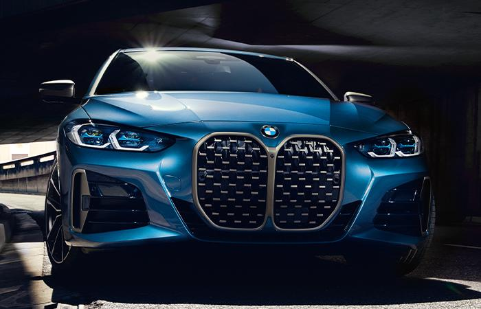 Front view of the 2021 BMW 4 Series