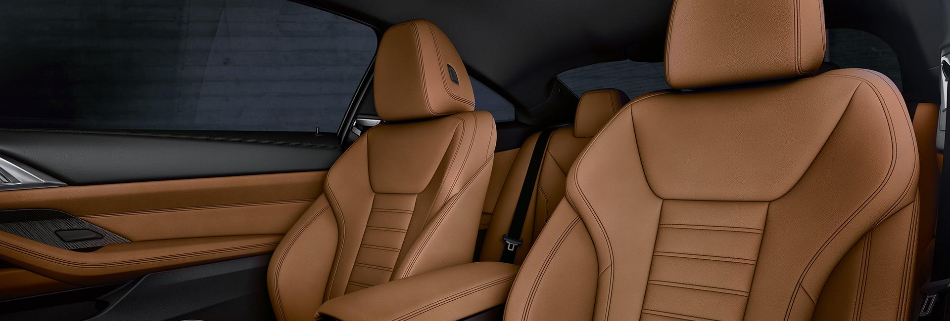 Close up of the 2021 BMW 4 Series's seats