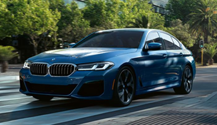 Front driver view of the 2021 BMW 5 Series