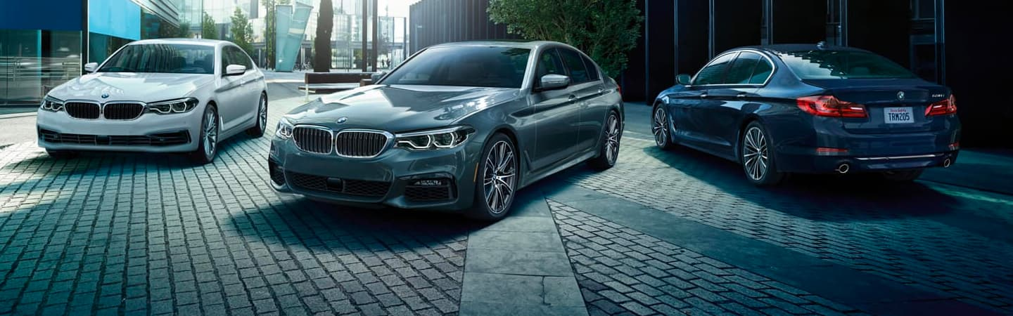 2020 BMW 5 Series Vehicles Parked