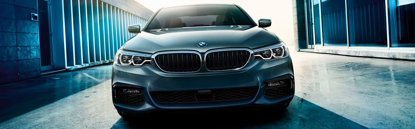 2020 BMW 5 Series Front View - Headlights, Front Bumper, and Hood