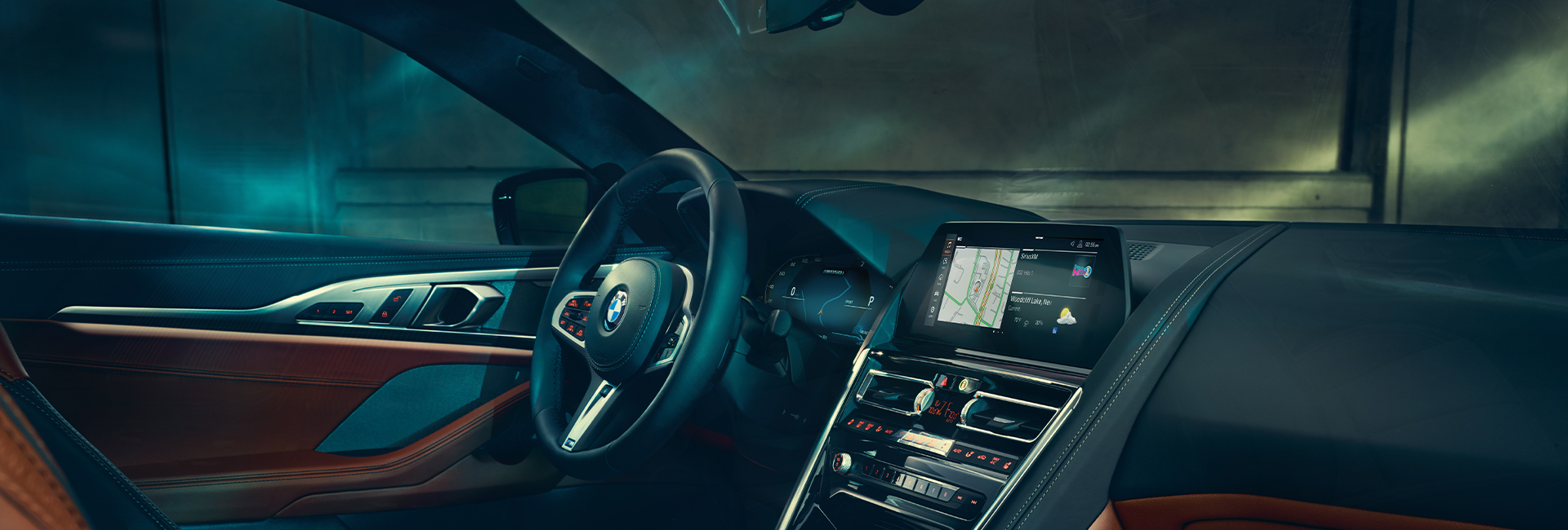 Interior image of the 2020 BMW 8 Series