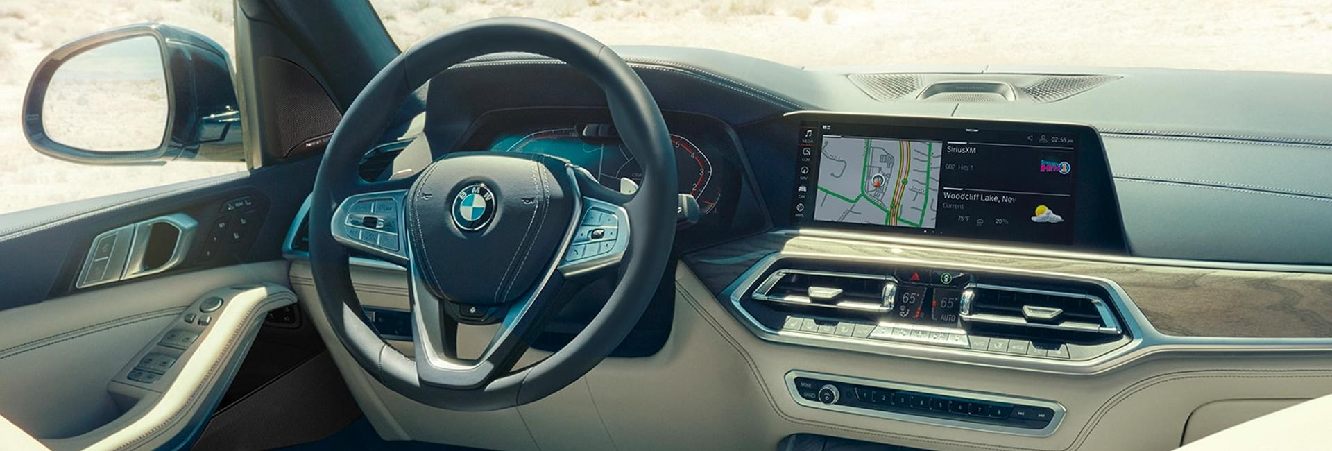 Full interior view of the 2021 X7 luxury interior