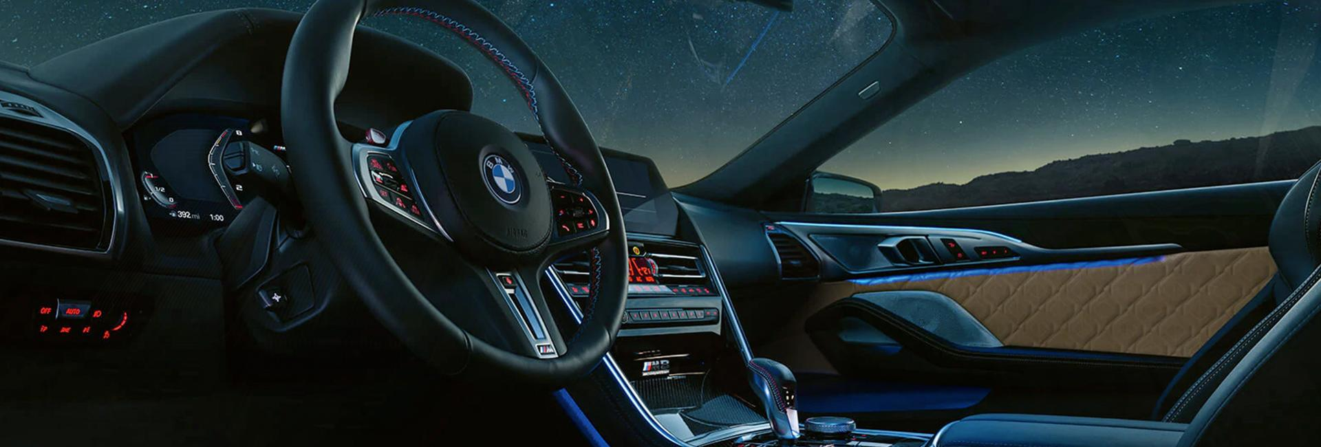 Interior view of the 2020 BMW M8