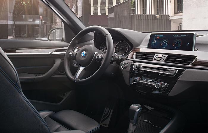 2021 BMW X1 front interior view