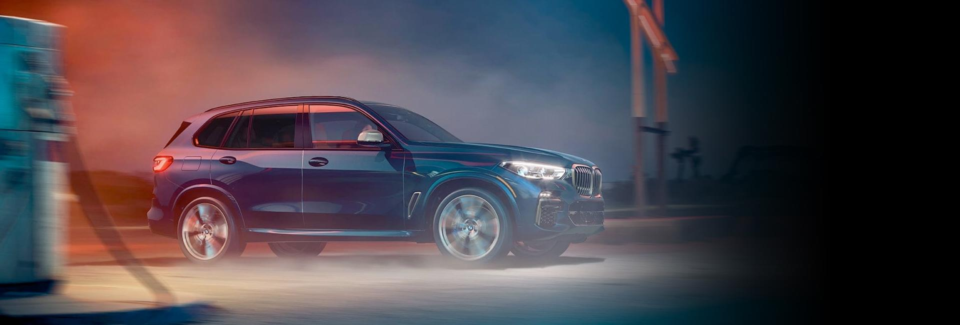 Side profile view of a 2021 BMW X5