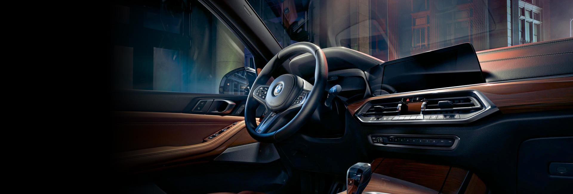 Front interior view of the 2021 BMW X5