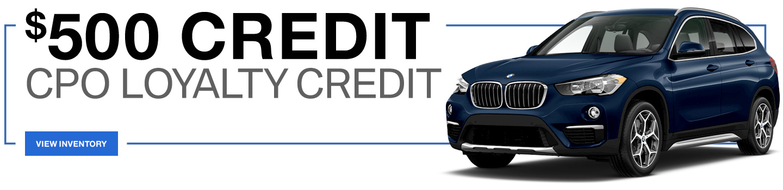$500 Credit CPO Loyalty Credit