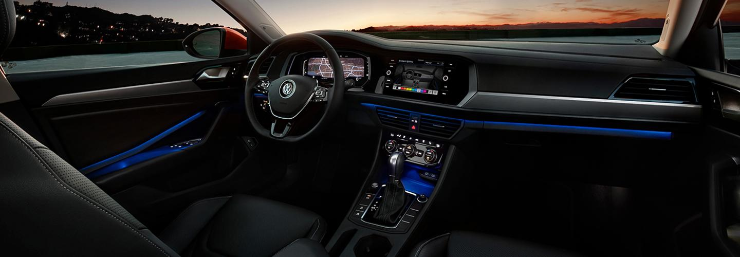 Interior view of the 2021 VW Jetta