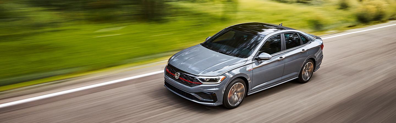 A Gray VW Jetta in motion