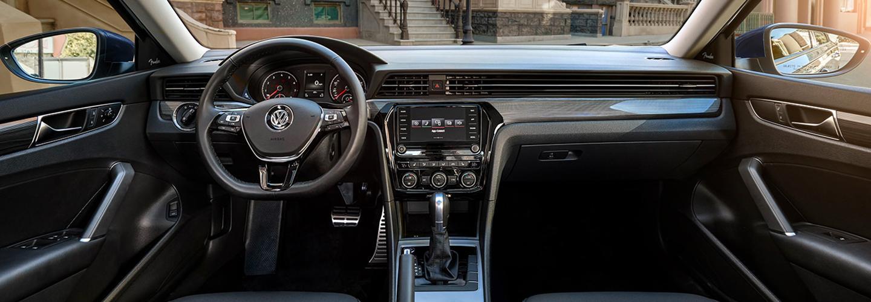 Full interior view of a 2021 Passat
