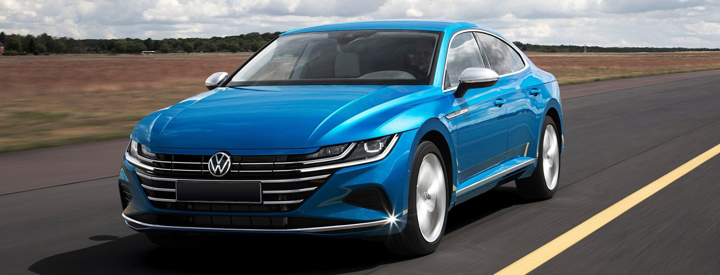 Front view of the 2021 Arteon in motion