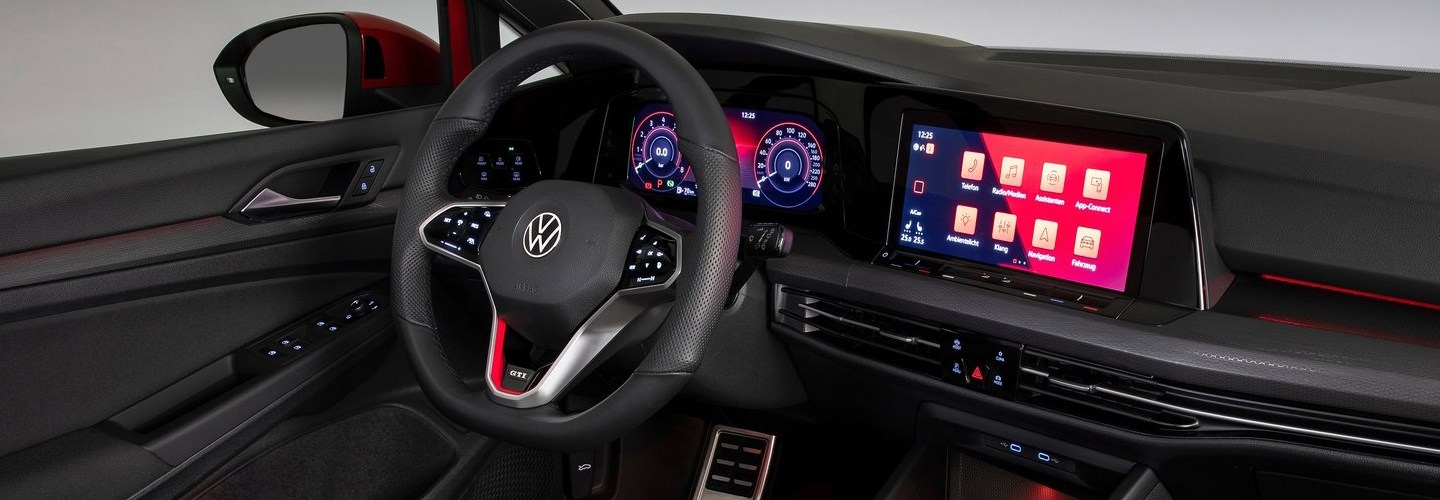 Interior view of the 2021 Golf GTI