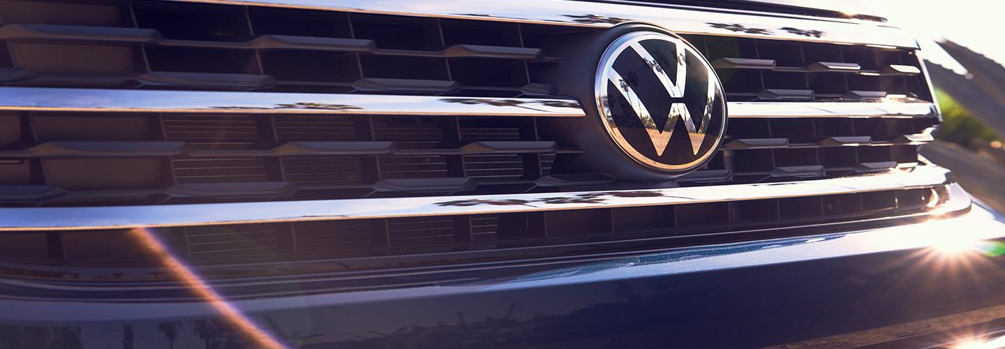 Close up of Volkswagen grille