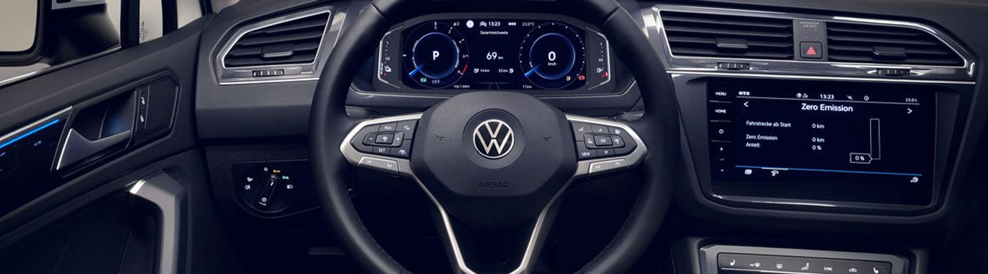 Full interior view of a new Volkswagen
