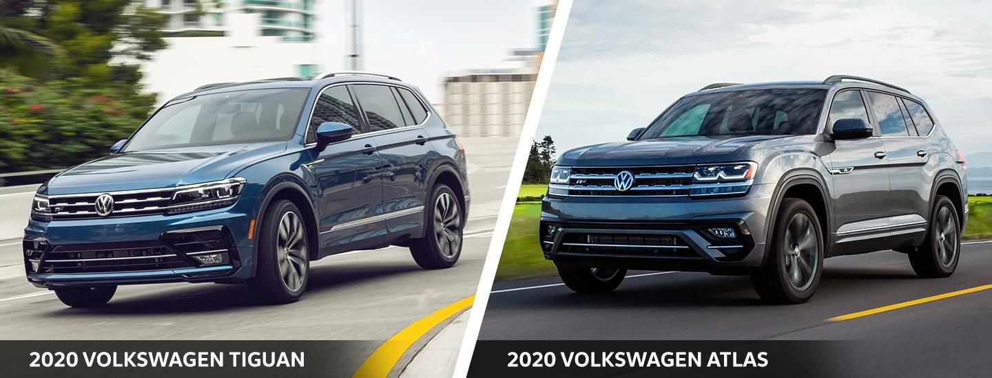 2020 Tiguan and Atlas comparison