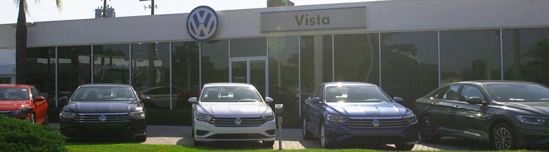 Vista Volkswagen Dealership with lineup